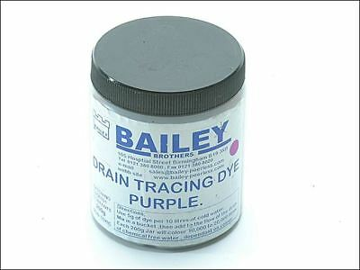 Bailey 3592 Drain Tracing Dye Powder Purple Mix with Water for Flow Pipes Drains