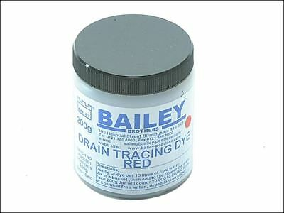 Bailey 3590 Drain Tracing Dye Powder Red Mix with Water for Flow Pipes Drains