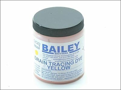 Bailey 3591 Drain Tracing Dye Powder Yellow Mix with Water for Flow Pipes Drains