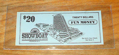$20. SHOWBOAT CASINO Fun Money - 1987 - ATLANTIC CITY, New Jersey