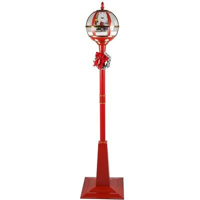 Red Snowing Street Led Musical Lamp -  175cm