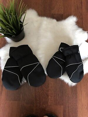 Epic Threads Thinsulate 2 Kids SZ Xs And S Gloves Black Sweat Inside Mittens