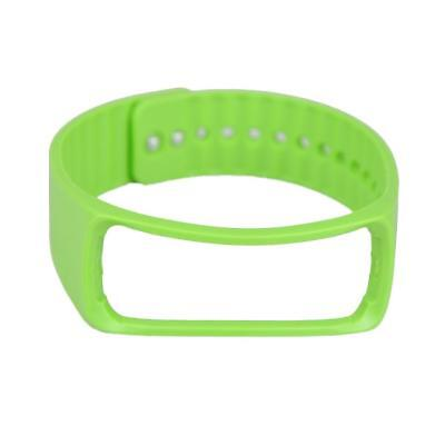 Rubber Wristband Band For Samsung Gear Fit R350 Bracelet w/ Strap Green