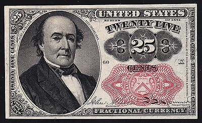 US 25c Fractional Currency FR 1309 Ch CU