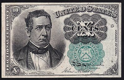 US 10c Fractional Currency FR 1264 Green Seal Ch CU