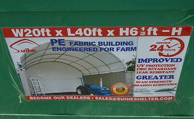 New 6m x 12m Container Shelter Workshop Igloo Dome +End Panel