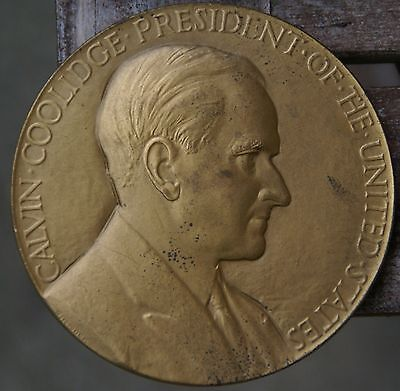 Calvin Coolidge President of the United States Large Bronze Medal
