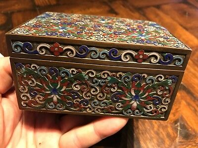 Vintage Chinese CLOISONNÉ enamel BOX Asian Art