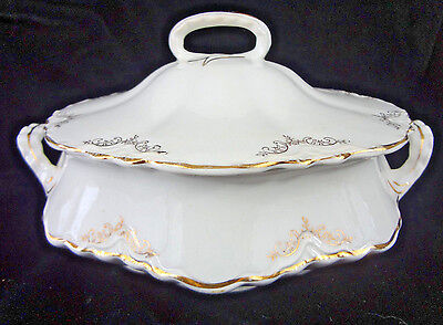 Vintage Homer Laughlin Republic Round Serving Vegetable Dish Bowl Casserole