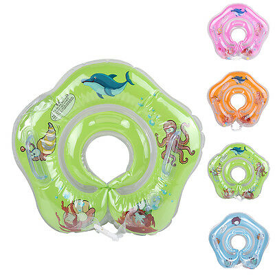 Bathroom Baby Kids Swimming Life Buoy Neck Inflatable Ring Safety Floats Circle