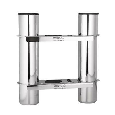 316 Stainless Steel Marine Boat Kayak Fishing Rod Pole Holder Rack for 2 Rod