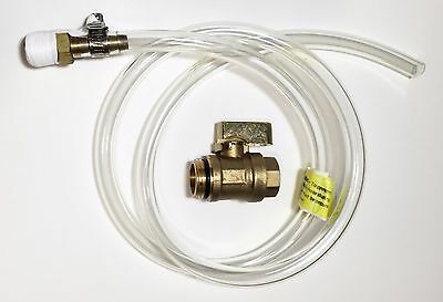 Air Compressor Auto Tank Drain & Petcock Self Cleaning Ball Valve / Hose Assy