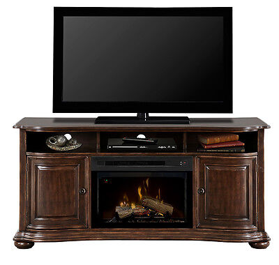 Dimplex Henderson deep cherry TV electric fireplace, new 25 logset Multi-Fire XD