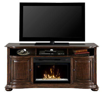 Dimplex Henderson deep cherry TV electric fireplace 25 acrylic ice Multi-Fire XD