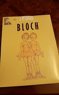 Bloch Girl's Endura  Footed Tights White Size Child Medium 6-8 T0921G (2 packs)