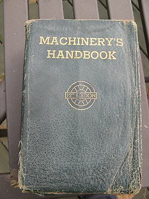 Vintage Machinery's Handbook 12 Th Edition 1944 1800 Pages