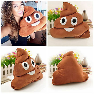 Emoji Details Poop Pillow For Kids Toy Doll Plush Round/ Chair Seat Bed