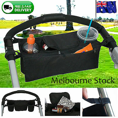 Cute Baby Stroller Safe Console Tray Pram Hanging Bag/Cup Holder/Accessory Buggy