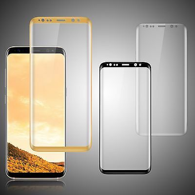3D Full Cover Tempered Glass Screen Protector Film For Samsung Galaxy S8 Lot