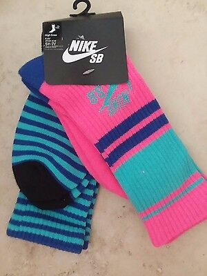 NWT NIKE Kids 5Y-7Y Youth M Boy Girl high crew socks