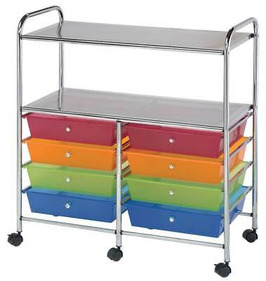 Double-Wide Storage Cart in Multicolor [ID 3424100]