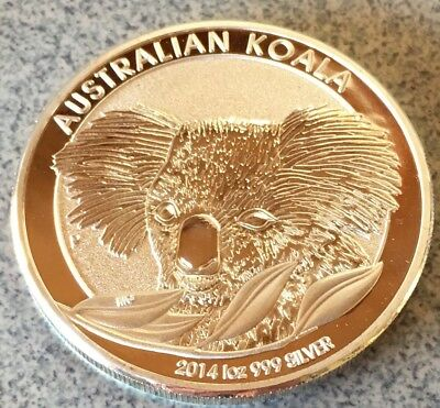 2014 AUSTRALIAN Koala finished .999 Silver Collector Medallion Plated Coin  🐨