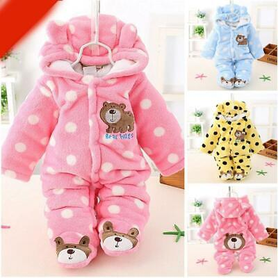 Newborn Baby Clothes Sets Girls Boy Clothes Romper Winter Outwear Outfits JJ
