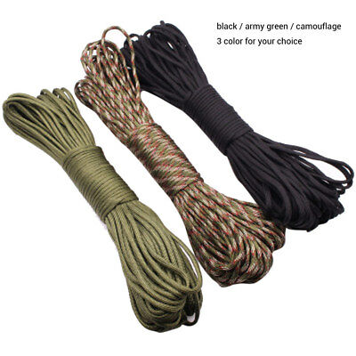 100FT 4mm Parachute Cord Lanyard Rope 7-Strand Polyester Survival Outdoor Tool