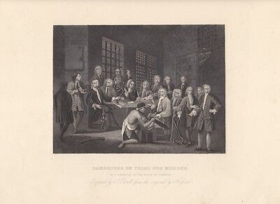 "Gerichtsverhandlung, ""Bambridge on trial for murder by a committee of the house"