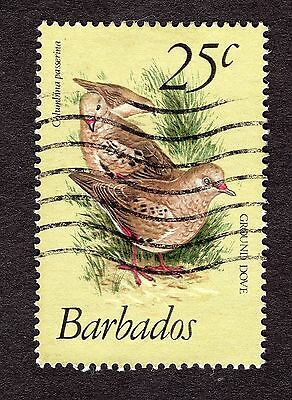 1979 Barbados 25c Scaly breasted ground dove SG629 FINE USED R31084
