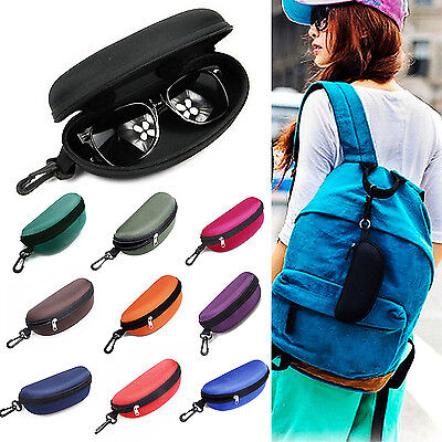 Tragbare Zip Glasses Clam Shell Sunglasses Cases Hard Box Protector Brillenetuis