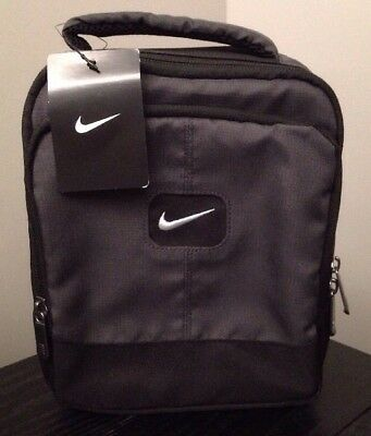 Nike Insulated Lunch Lunchbox School Youth Kids Bag Black Gray Neon Boys Sports