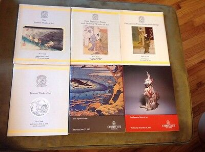 Six Christie's Auction Catalogs: Fine Japanese Works of Art And Prints 1979-1985