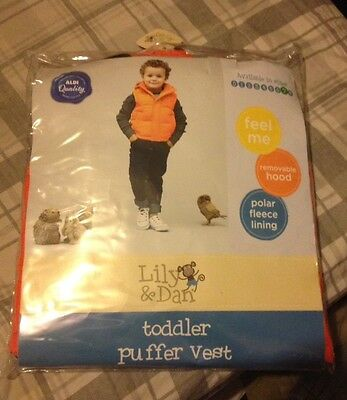 NEW Kids Toddler boys and girls puffer vest size 7