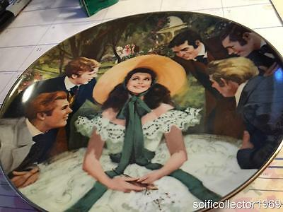 GONE WITH THE WIND COLLECTOR PLATE Rare 'Scarlett and Her Suitors W/COA'