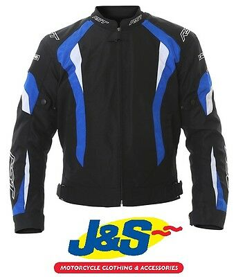 Rst R-16 Textile Motorcycle Jacket Sports Motorbike Sale Rrp £109.99 Black Blue