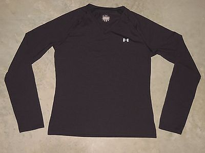 Under Armour Long Sleeve LS Shirt Womens MD Medium Athletic Black Workout
