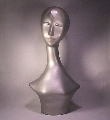 Vintage Mid Century Abstract Modern Long Neck Shoulders Head Store Mannequin