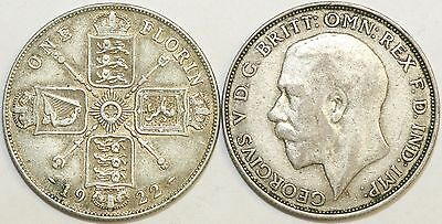 1920 to 1926 George V Silver Florin First Design Your Choice of Date