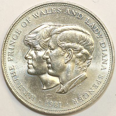 1981 Commemorative Crown Charles & Diana Extremely Fine Condition