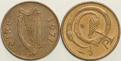 1971 to 1982 Ireland Bronze Decimal Halfpence Your Choice of Date / Year