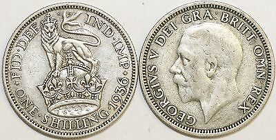 1927 to 1936 George V Silver Shilling Second Design Your Choice of Date
