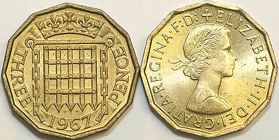 1953 to 1967 Elizabeth II Brass Threepence Your Choice of Date