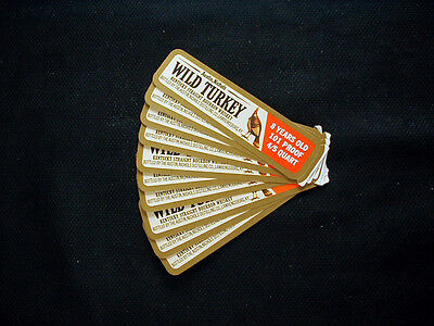 Vintage WILD TURKEY Whiskey Decanter Labels- Series 1- Lot of (10)