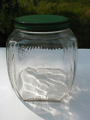 Antique Vintage Hard Candy Glass Jar - Mercantile Confectioners Dispenser