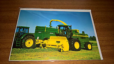 John Deere Forage Harvester Greetings Card - blank inside for your own message