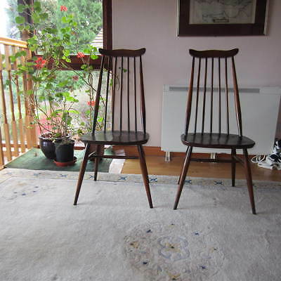 One Pair of Vintage Ercol Goldsmith Windsor Chairs