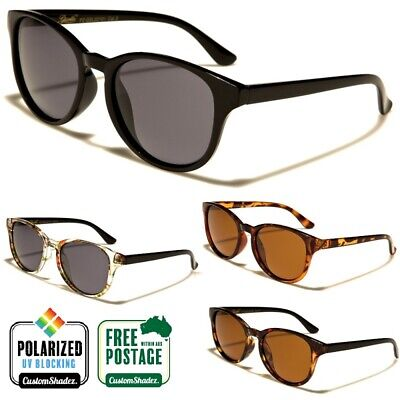 Giselle Polarised Sunglasses - Vintage / Retro Round Frame - Polarized Lens
