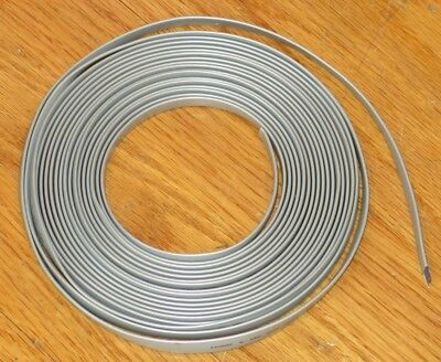 25' Foot 8-Conductor Flat Silver Satin Telephone Data Line Cord - 26 AWG Gauge