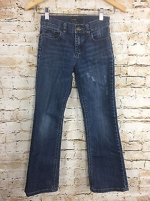 Children's Joe's Jeans Distressed Medium Dark Wash Green Pocket Detail Sz 10